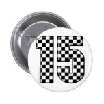 15 chequered auto racing number buttons