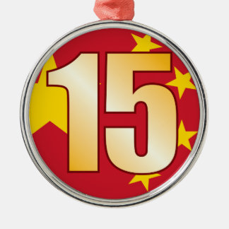 15 CHINA Gold Christmas Ornament