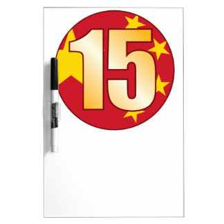 15 CHINA Gold Dry Erase Board