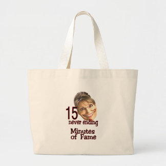 15 minutes of fame jumbo tote bag