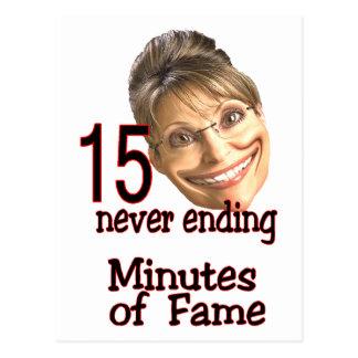 15 minutes of fame postcards
