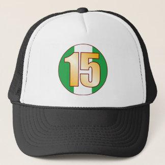 15 NIGERIA Gold Trucker Hat