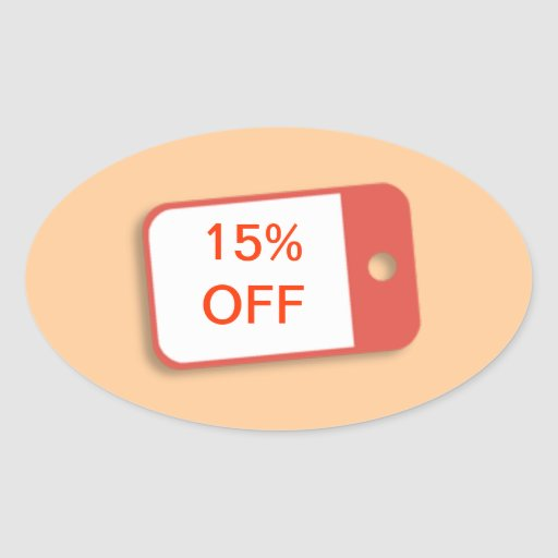 15% Off Retail Sale Badge Stickers