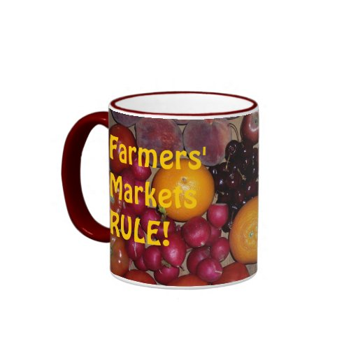 15 oz Farmers' Market Mug w/text