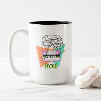 15 oz mug with colorful Doh Tape cool original art