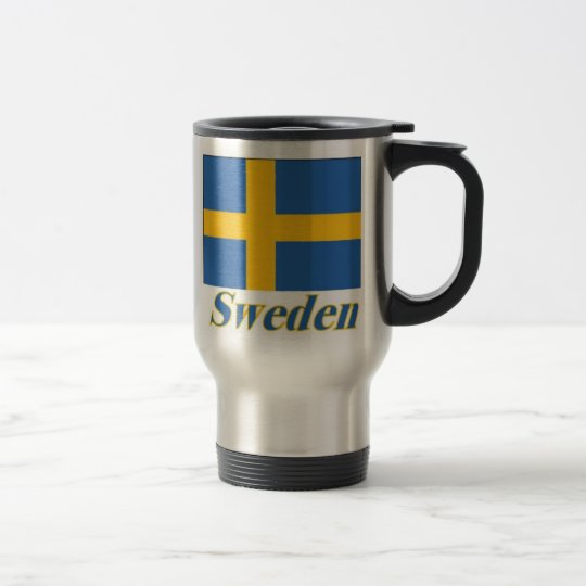 15 oz Stainless Commuter Mug Flag/Sweden