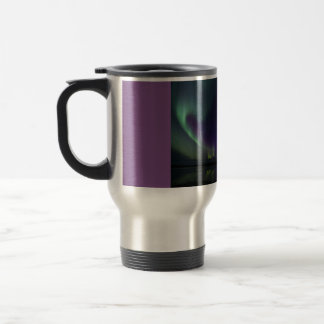 15 oz travel mug with Aurora picture