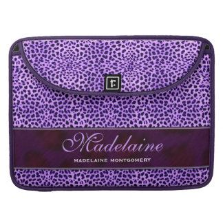 "15"" Purple Cheetah Print Flap Sleeve Sleeve For MacBook Pro"