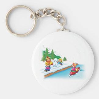15_snow_paddler basic round button key ring