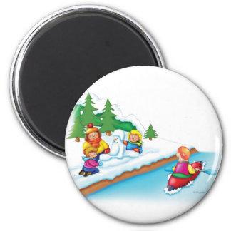 15_snow_paddler magnet