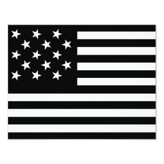 "15 Star Us Flag 4.25"" X 5.5"" Invitation Card"