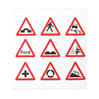 15 Triangle Traffic Signs Notepads