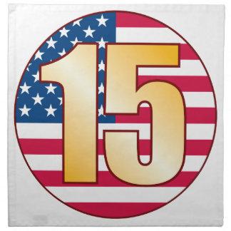 15 USA Gold Napkin
