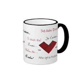 15 Ways to Say 'I Love You' Coffee Mugs