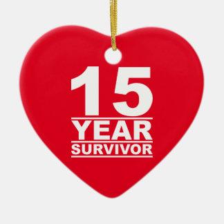 15 year survivor christmas ornament