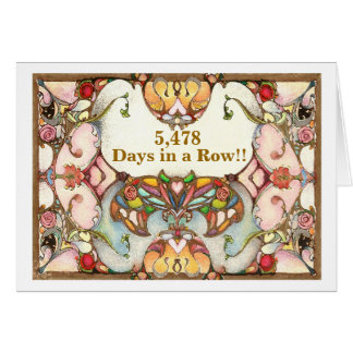 15 Years of Recovery Days Card