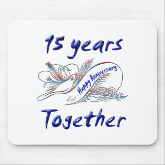 15 Years Together Mouse Mat