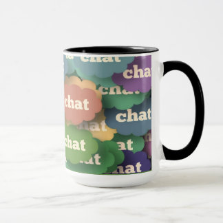 "15oz Combo Coffee Mug ""Chat"" By Zazz_it"