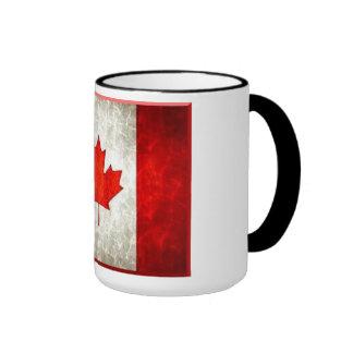15oz Jumbo Mug Canadain Flag Ringer Mug