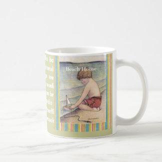 15oz Mug, Beach House /Sally Coupe Jacobson-... Basic White Mug