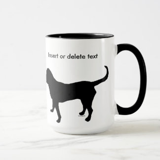 15oz ringer mug black dog silhouette