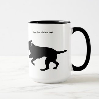 15oz ringer mug playful black lab