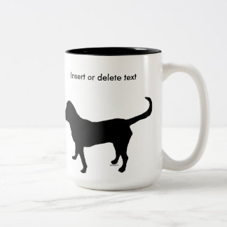 15oz two-tone mug black lab silhouette