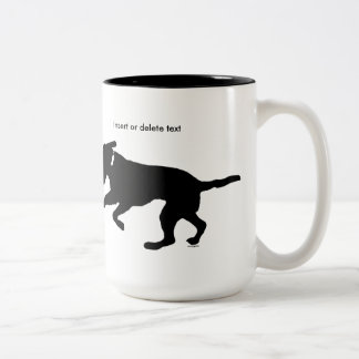 15oz two-tone mug playful black lab