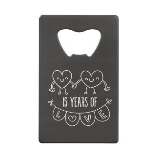 15th Anniversary Gift Chalk Hearts