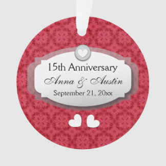 15th Anniversary Wedding Anniversary Red Z12
