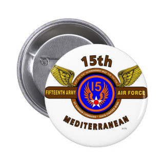 "15TH ARMY AIR FORCE ""ARMY AIR CORPS"" WW II 6 CM ROUND BADGE"