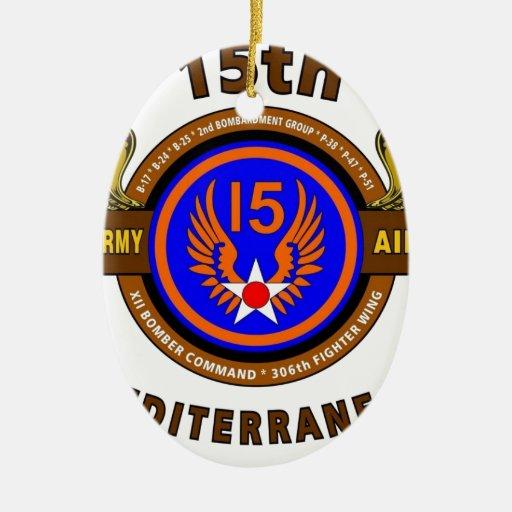 "15TH ARMY AIR FORCE ""ARMY AIR CORPS"" WW II ORNAMENT"