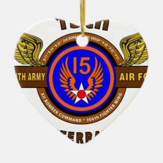 "15TH ARMY AIR FORCE ""ARMY AIR CORPS"" WW II CHRISTMAS ORNAMENTS"