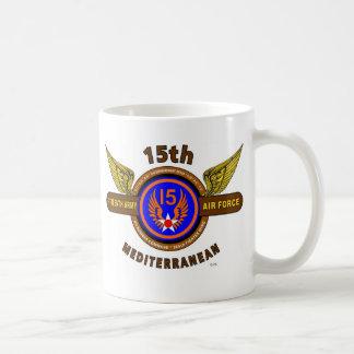 "15TH ARMY AIR FORCE ""ARMY AIR CORPS"" WW II BASIC WHITE MUG"