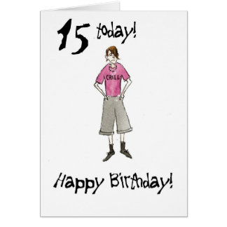 15th Birthday Card for a Boy