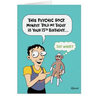 15th Birthday Funny Greeting Card