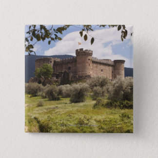 15Th Century Castle Of The Duke Of Alburquerque 15 Cm Square Badge
