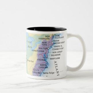 15th Century Map Two-Tone Mug