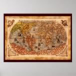 15th Century Old World Map Art