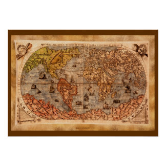 15th Century Old World Map Art Posters