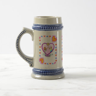 15th Glass Anniversary Wedding Anniversary Beer Stein