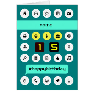 15th hashtag computing birthday add name card