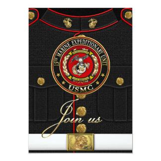 15th Marine Expeditionary Unit (15th MEU) [3D] 13 Cm X 18 Cm Invitation Card