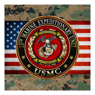 15th Marine Expeditionary Unit (15th MEU) [3D] Poster