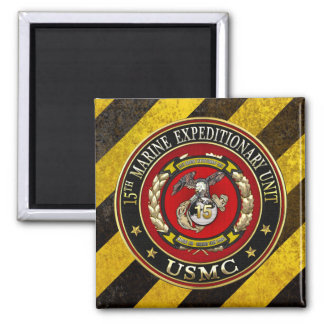 15th Marine Expeditionary Unit (15th MEU) [3D] Square Magnet