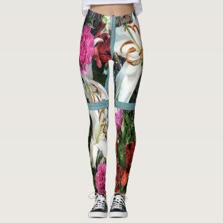 15th Pattern; Window Flowers Leggings
