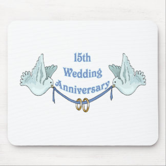 15th wedding anniversary 2t mouse pad
