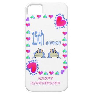 15th wedding anniversary, barely there iPhone 5 case