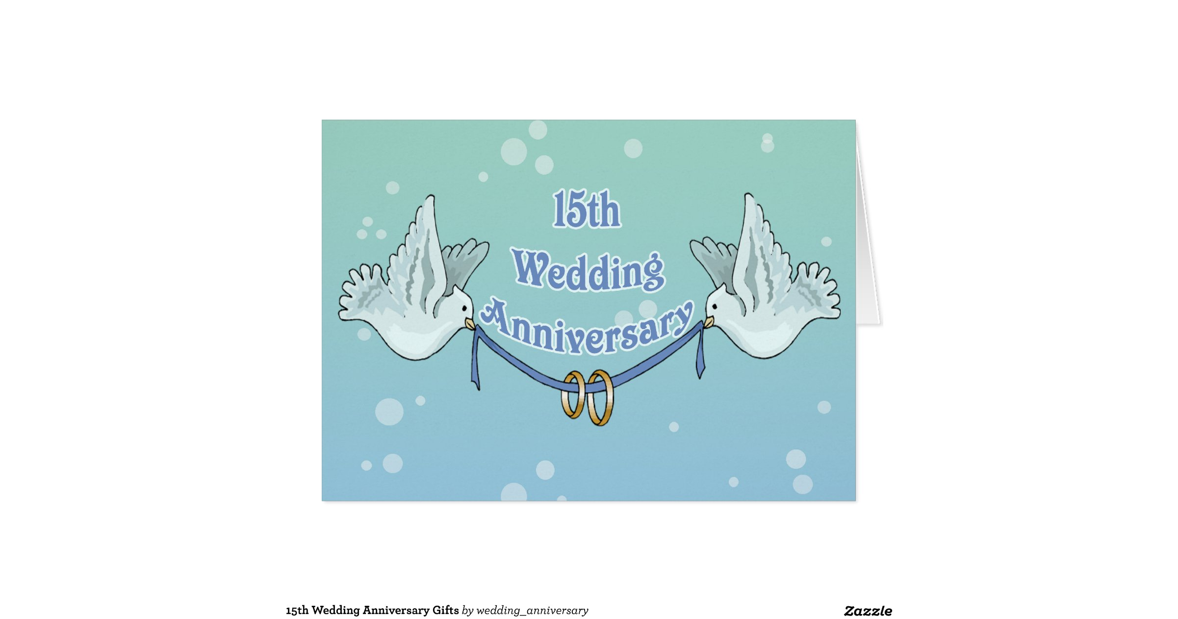 Wedding Anniversary Gifts By Year Uk: 15th Wedding Anniversary Gifts Greeting Card