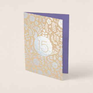15th Wedding Anniversary Greeting Cards